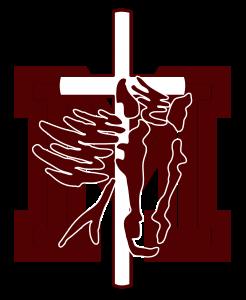 logo burgundy