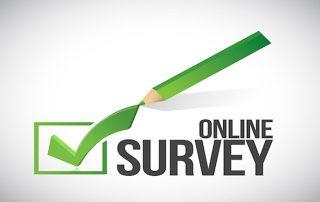 online survey check box illustration design