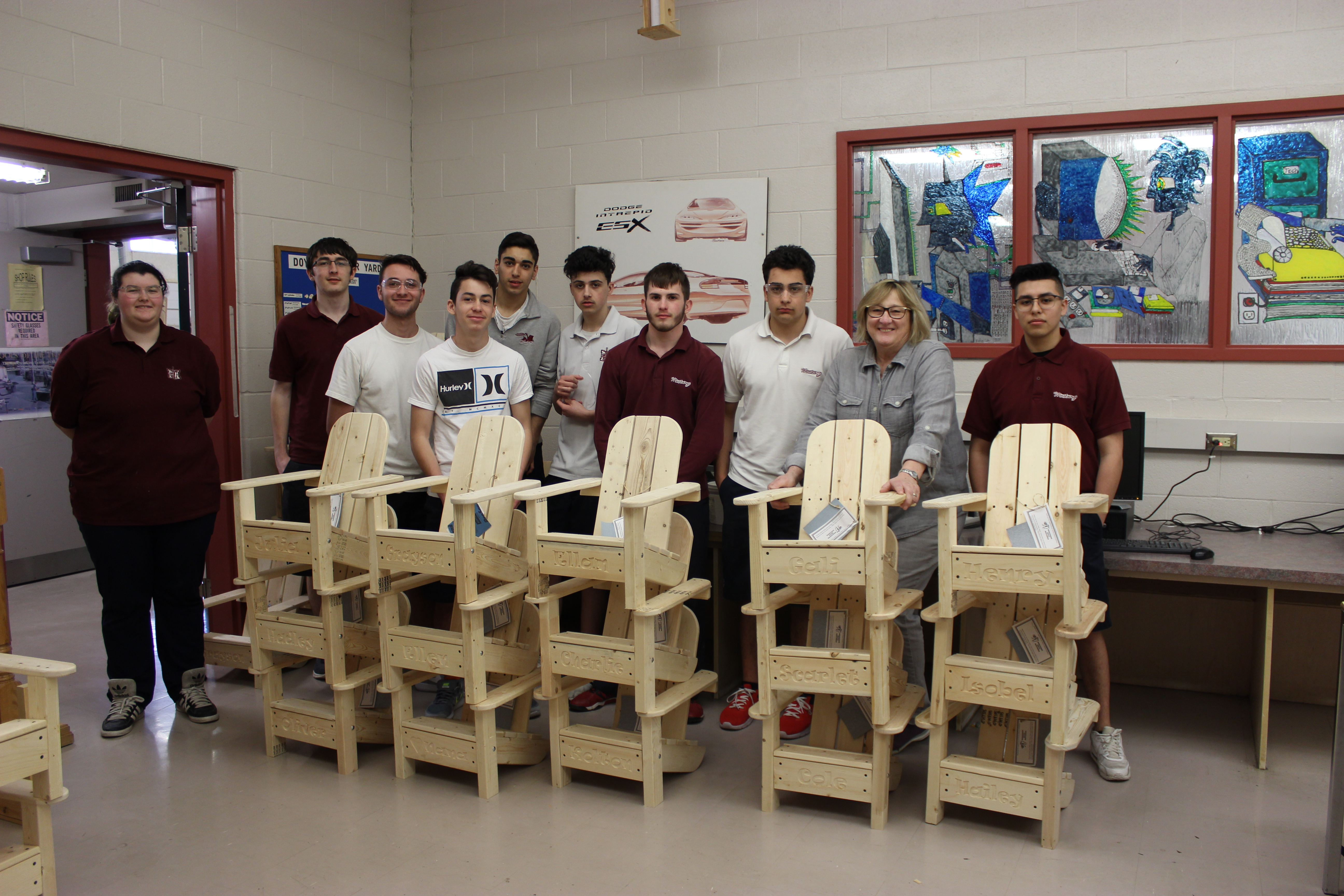 Chairs made by students